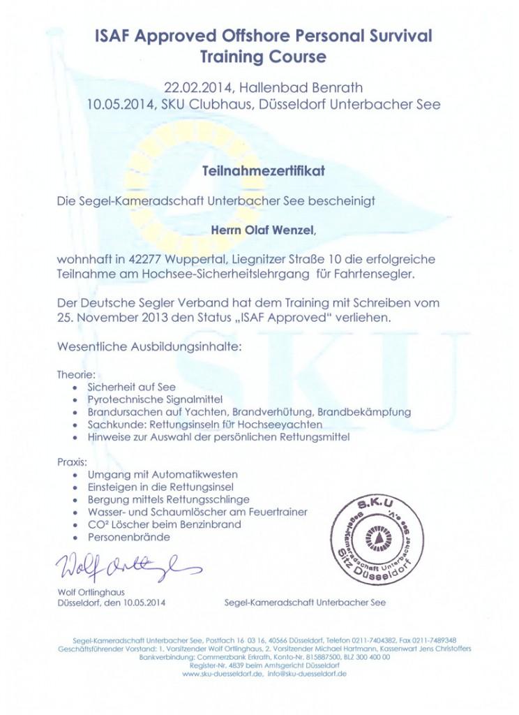 ISAF-Zertifikat