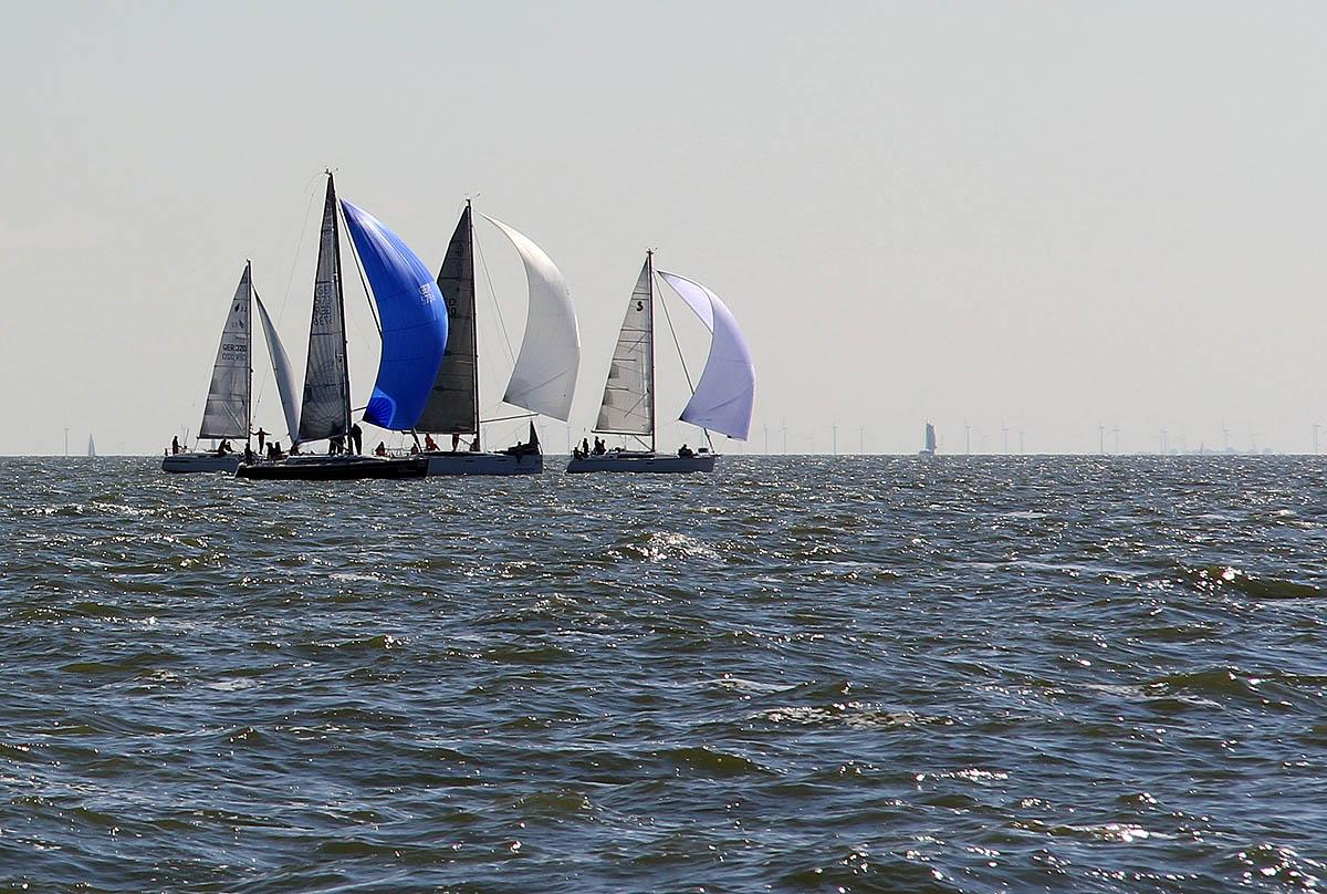 Schiffe der ORC1-Gruppe bei der Pott-Regatta 2015